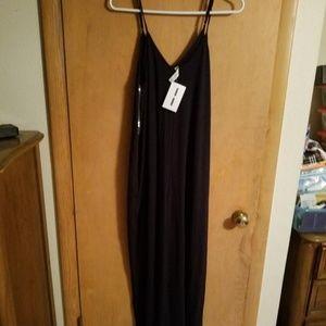 Navy Blue Maxi Dress Large